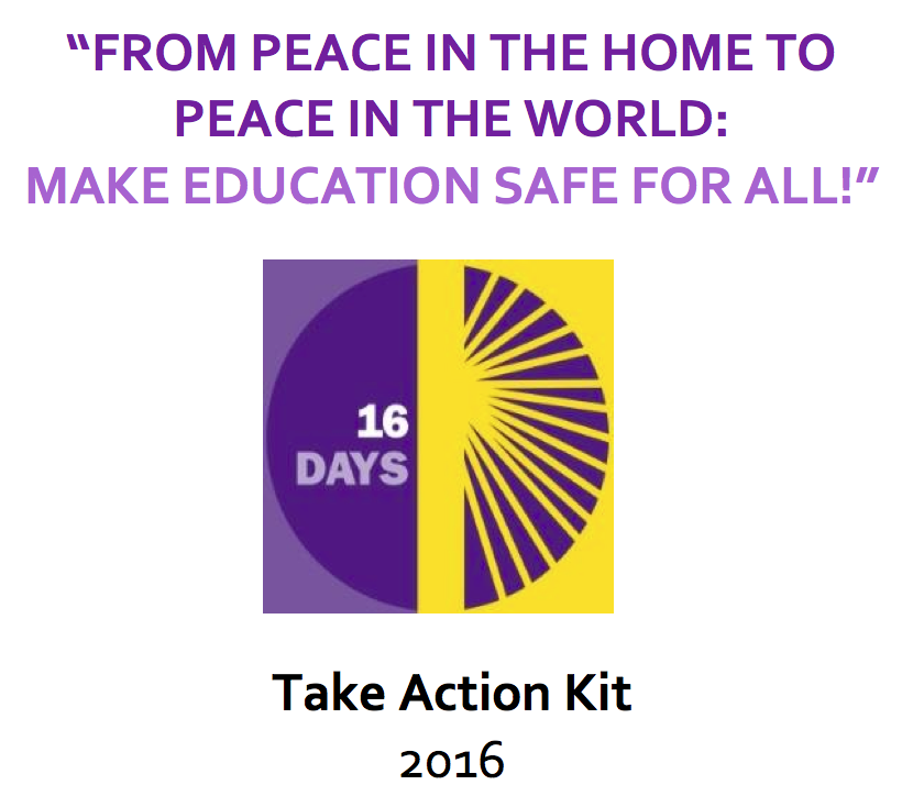16 Days Campaign 2016 Take Action Kit