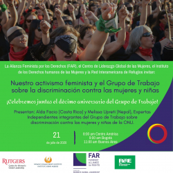 Webinar: Our Feminist Activism and the Working Group on Discrimination against Women and Girls